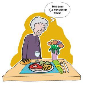 La nutrition d'une personne âgée